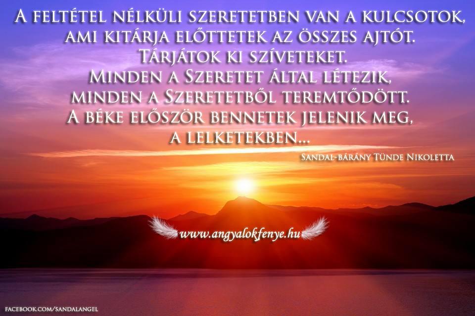 Photo of Angyali üzenet: A Feltétel Nélküli Szeretetben van a kulcsotok