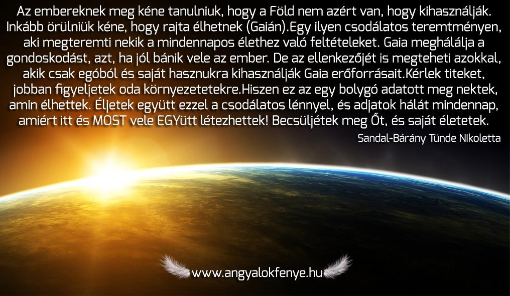Photo of Angyali üzenet: Éljetek együtt Gaiával