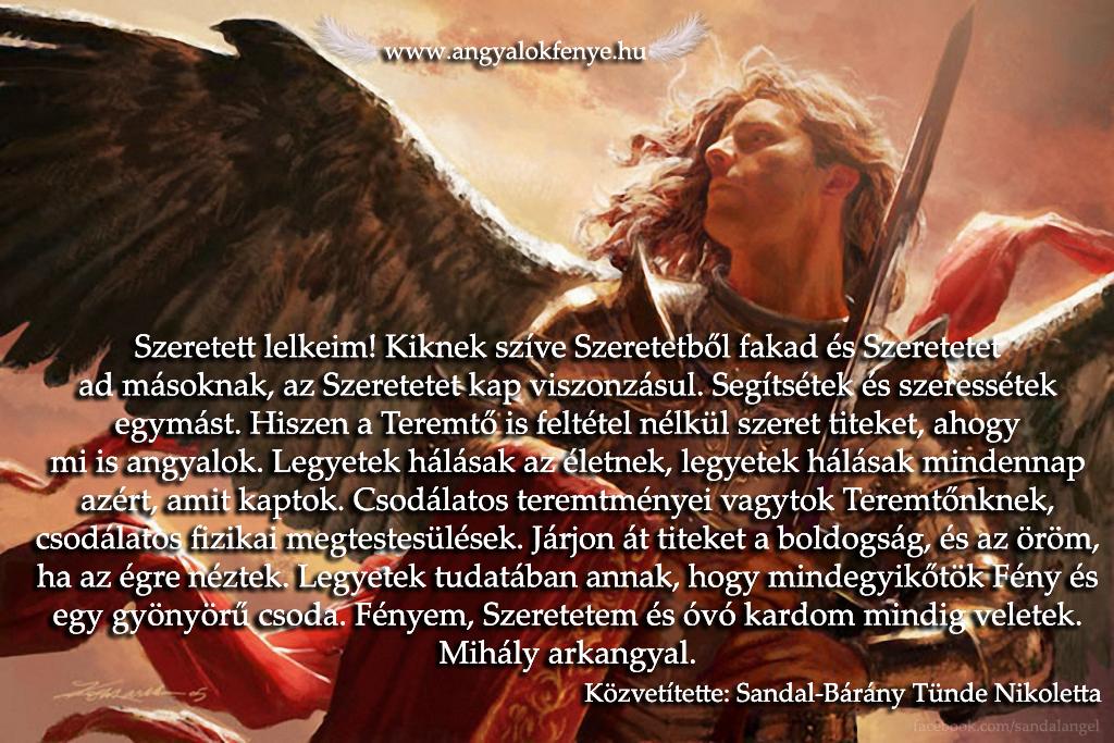 Photo of Mihály arkangyal üzenete: Segítsétek és szeressétek egymást