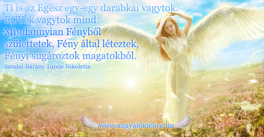 Photo of Angyali üzenet: Az Egész darabkái vagytok