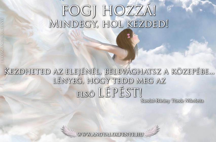 Angyali üzenet-Fogj hozzá