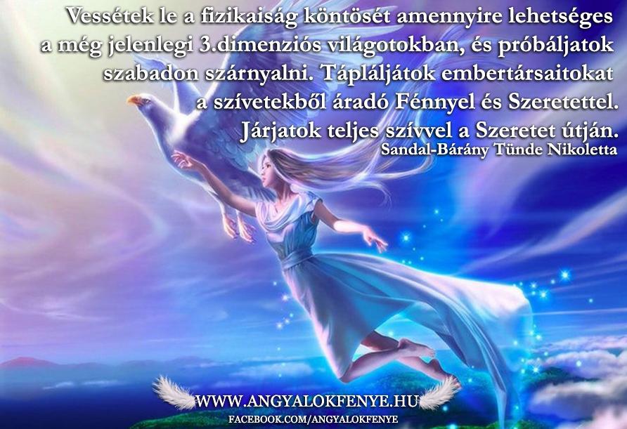Photo of Angyali üzenet: Vessétek le a fizikaiság köntösét