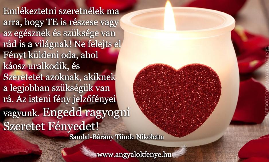 Angyali üzenet-Szeretet Fény
