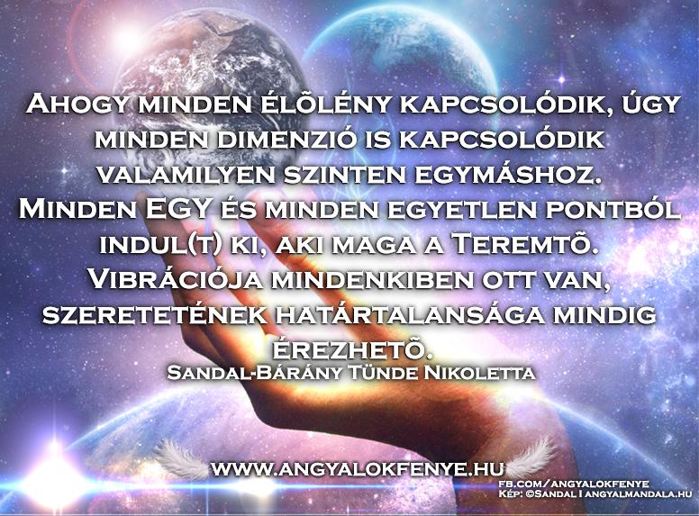 Photo of Angyali üzenet: Minden dimenzió kapcsolódik