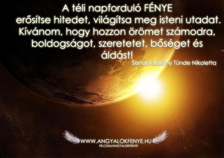Photo of Angyali üzenet: A téli napforduló fénye erősítse hitedet