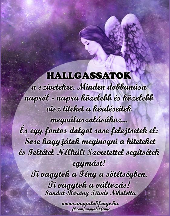 Photo of Angyali üzenet: Hallgassatok a szívetekre