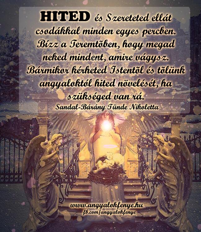 Photo of Angyali üzenet: Hited és Szereteted ellát csodákkal