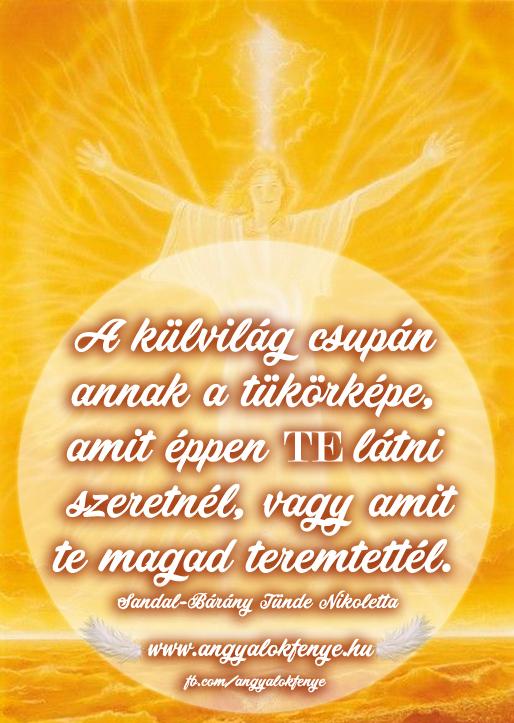 Photo of Angyali üzenet: A külvilág tükörképe