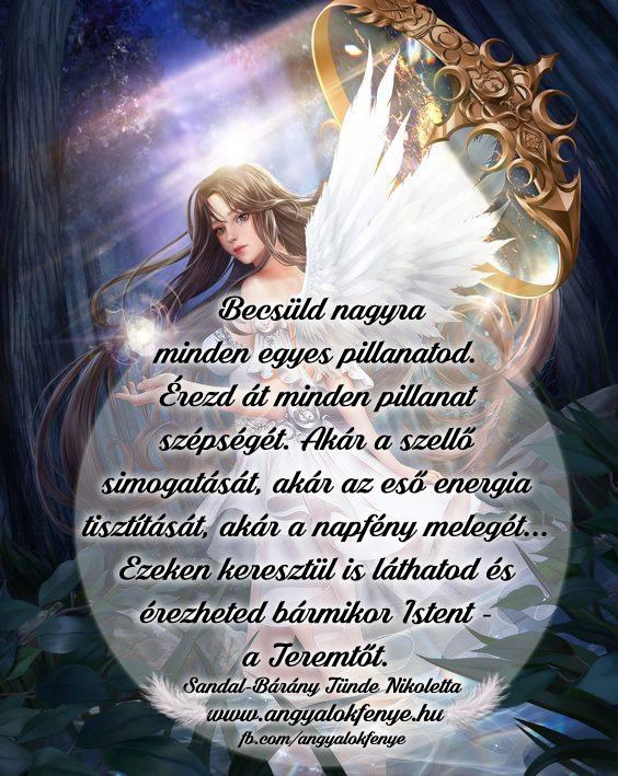 Angyali üzenet - Becsüld nagyra minden egyes pillanatod