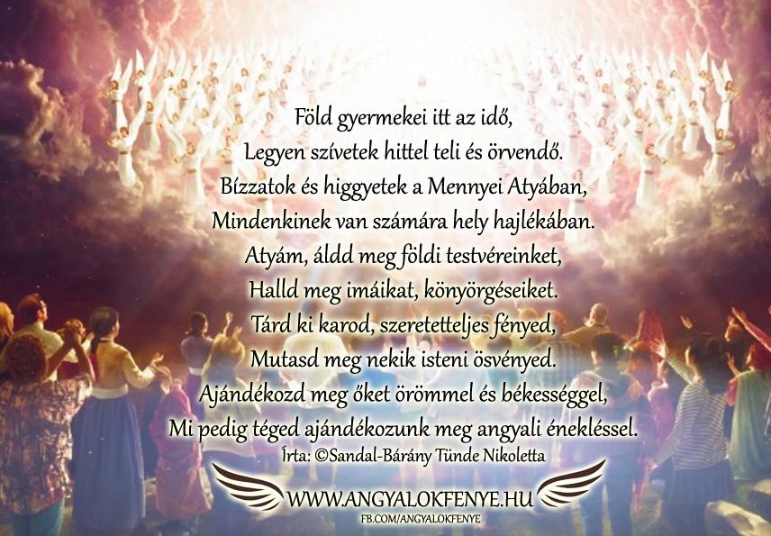 Angyali vers-Bízzatok a Mennyei Atyában