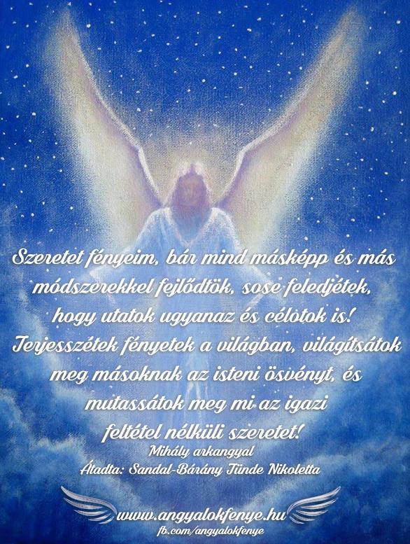 Photo of Mihály arkangyal üzenete: Terjesszétek fényetek a világban