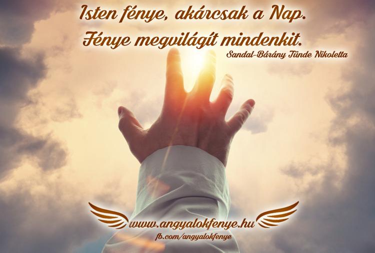 Photo of Angyali üzenet: Isten fénye, akárcsak a Nap