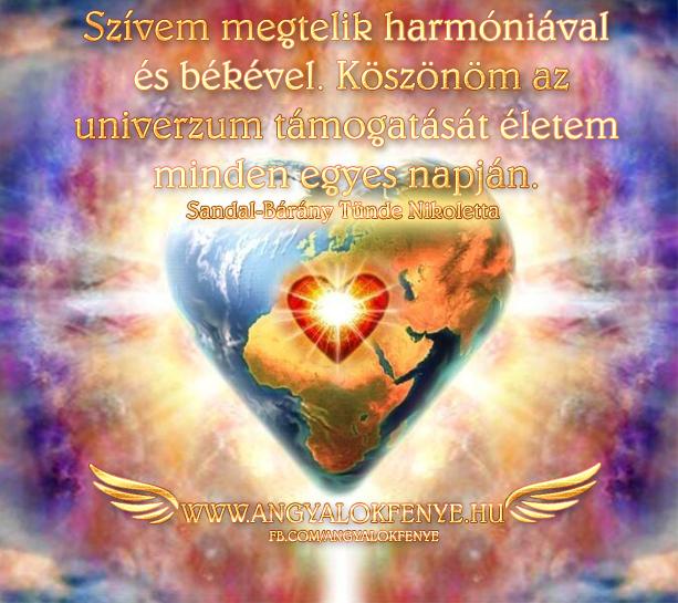 Photo of Angyali megerősítések: Szívem megtelik harmóniával és békével