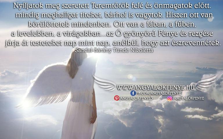 Photo of Angyali üzenet: Nyíljatok meg szeretett Teremtőtök felé