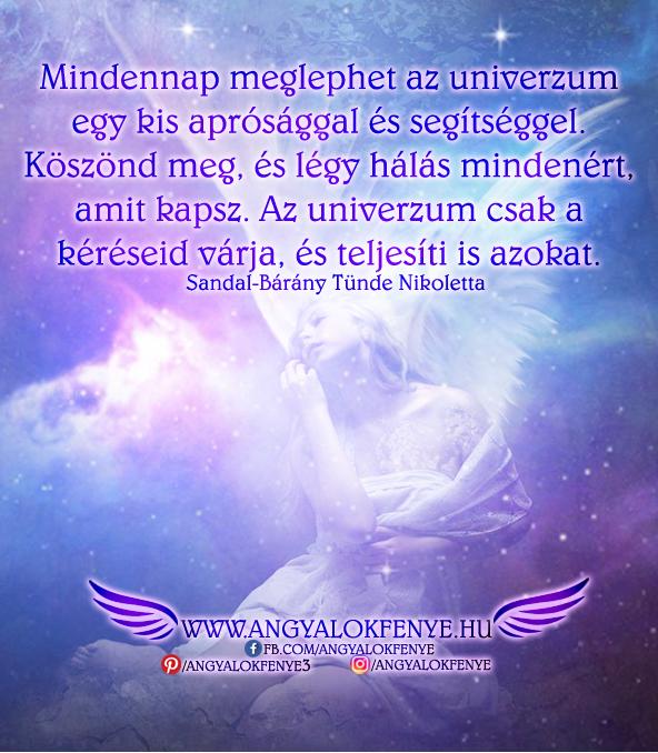 Angyali üzenet-Mindennap meglephet az univerzum