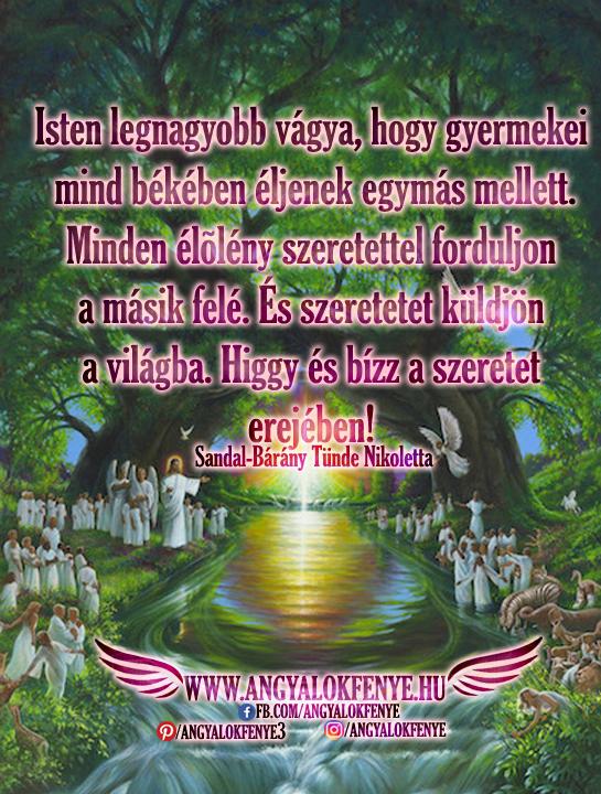 Angyali üzenet-Isten legnagyobb vágya