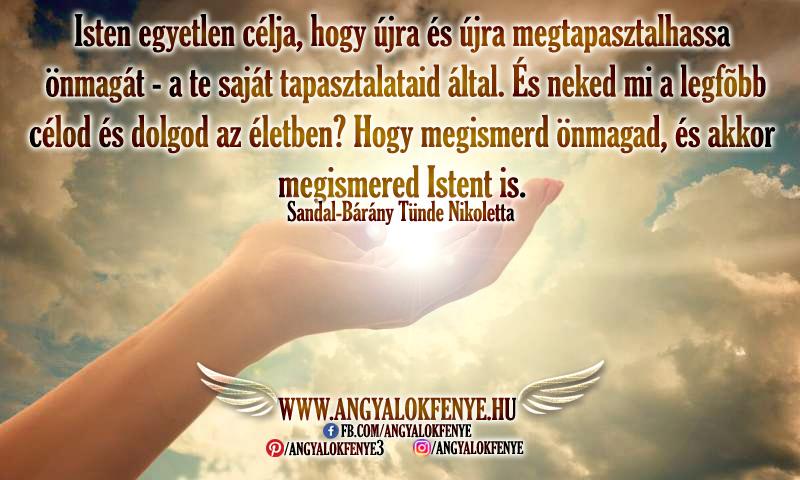 Photo of Angyali üzenet: Isten egyetlen célja