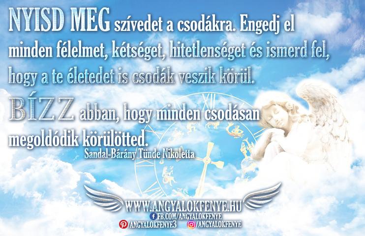 Photo of Angyali üzenet: Nyisd meg szívedet a csodákra