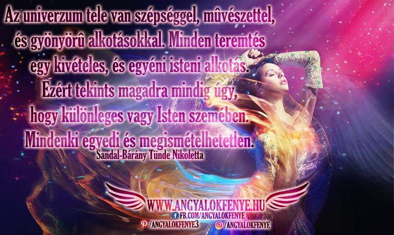 Angyali üzenet: Az univerzum tele van szépséggel, művészettel