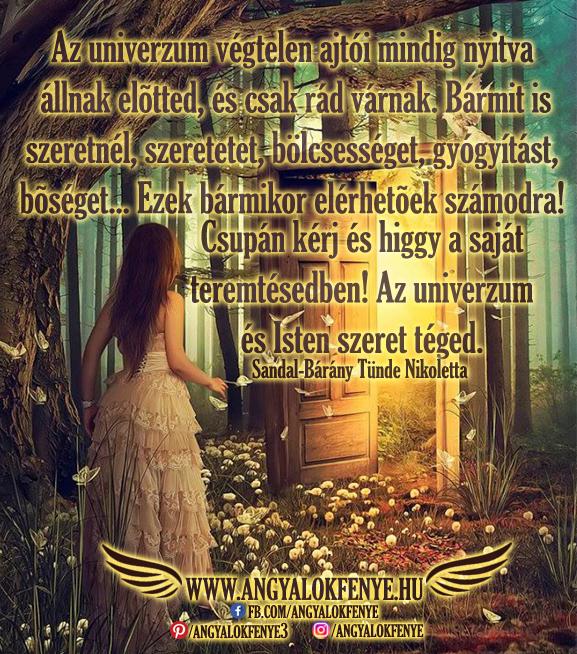 Photo of Angyali üzenet: Az univerzum végtelen ajtói mindig nyitva állnak előtted