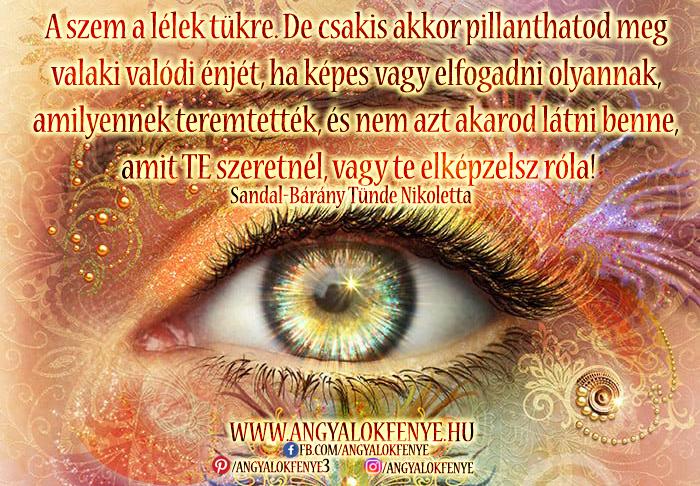 Photo of Angyali üzenet: A szem a lélek tükre