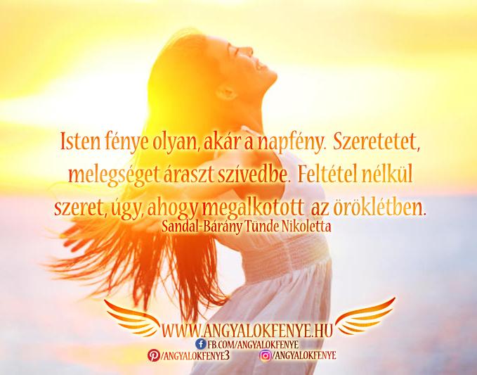 Photo of Angyali üzenet: Isten fénye olyan, akár a napfény
