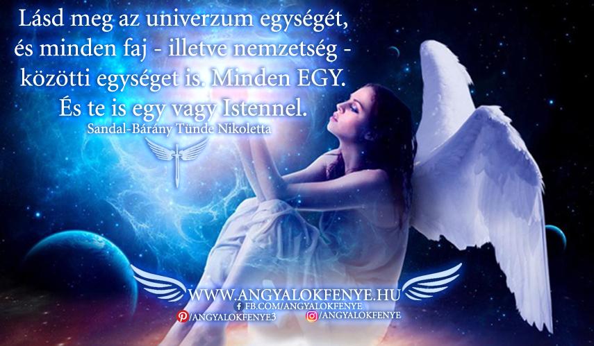 Photo of Angyali üzenet: Lásd meg az univerzum egységét