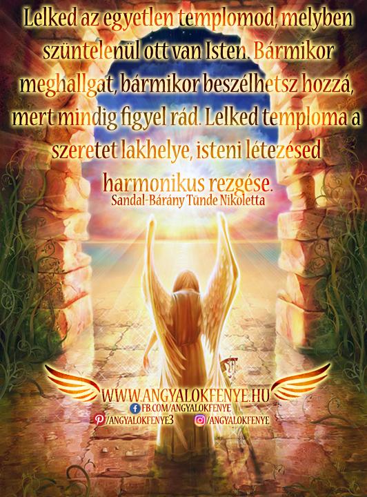 Photo of Angyali üzenet: Lelked az egyetlen templomod, melyben szüntelenül ott van Isten