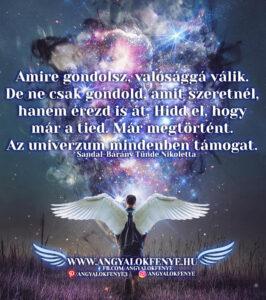 Angyali üzenet-Amire gondolsz, valósággá válik