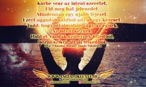 Angyali vers-üzenet-Körbe vesz az isteni szeretet