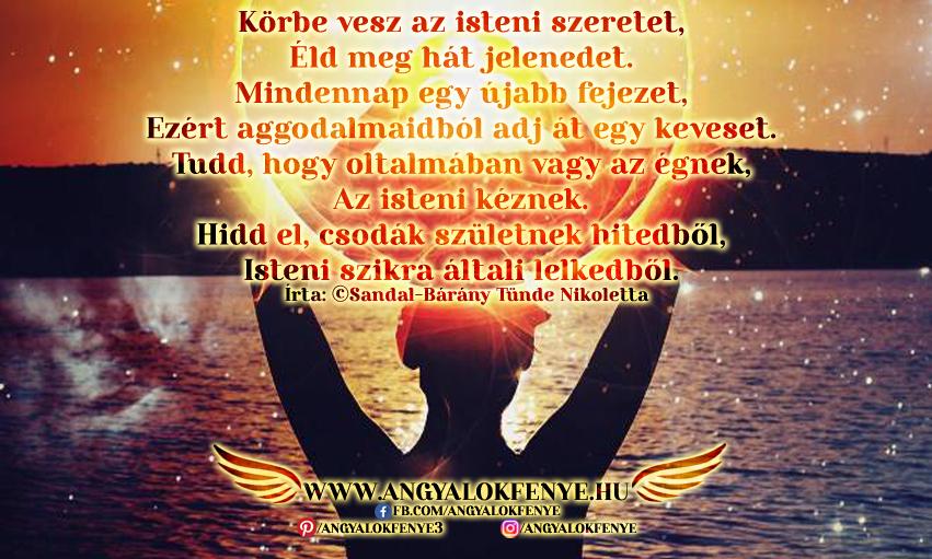 Photo of Angyali vers-üzenet: Körbe vesz az isteni szeretet