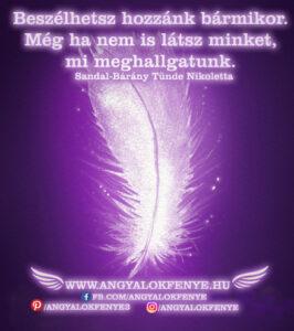 Angyali üzenet-Beszélhetsz hozzánk bármikor