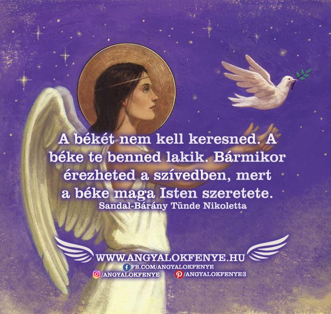 Photo of Angyali üzenet: A békét nem kell keresned