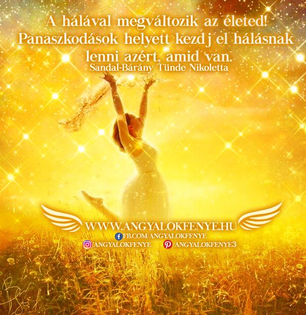 Photo of Angyali üzenet: A hálával megváltozik az életed