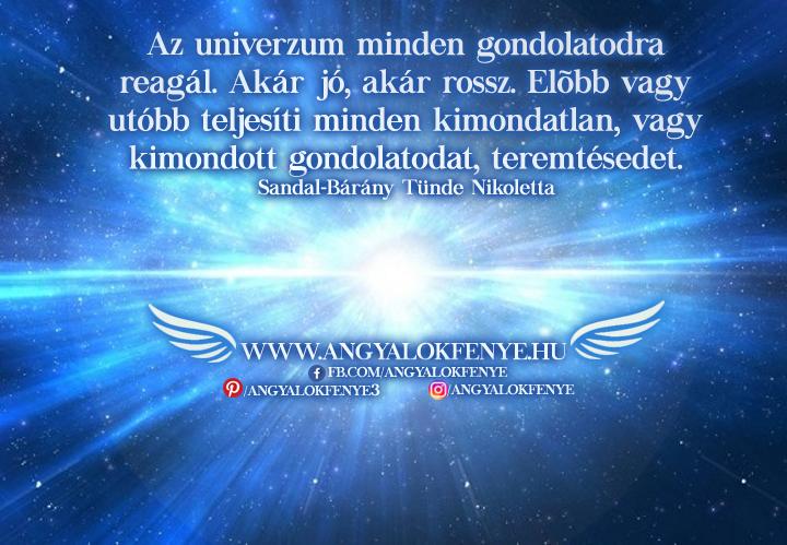 Photo of Angyali üzenet: Az univerzum minden gondolatodra reagál