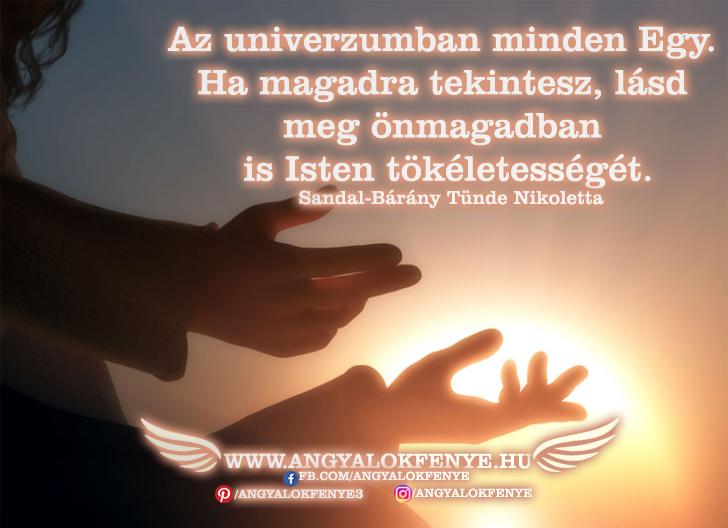 Photo of Angyali üzenet: Az univerzumban minden Egy
