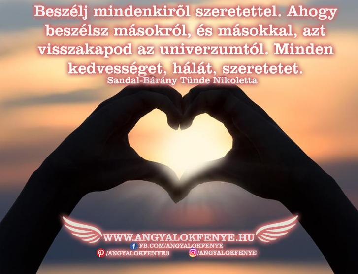 Angyali üzenet-Beszélj mindenkirol szeretettel