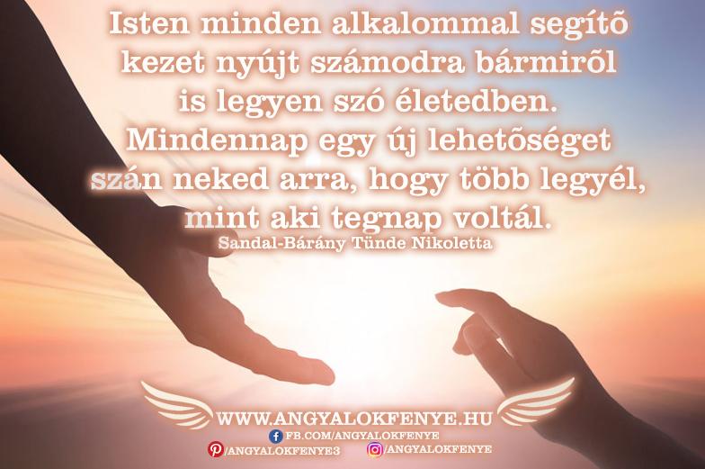 Angyali üzenet: Isten minden alkalommal segítő kezet nyújt