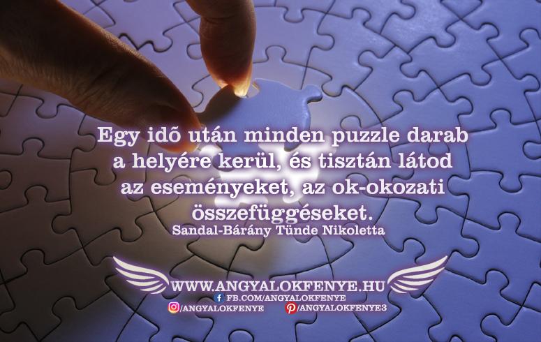 Angyali üzenet-Minden puzzle darab a helyére kerül