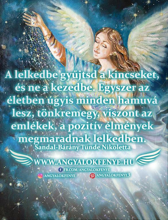 Angyali üzenet-A lelkedbe gyűjtsd a kincseket