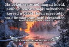 Photo of Angyali üzenet: Saját szívedben keresd a békét