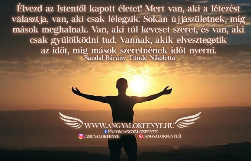 Angyali üzenet-Élvezd az Istentől kapott életet