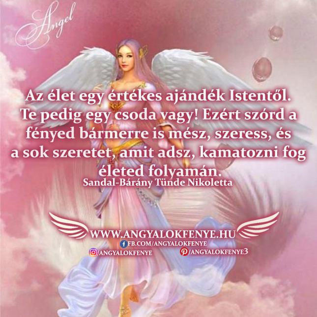 Angyali üzenet-Az élet egy értékes ajándék Istentől