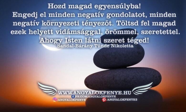 Angyali üzenet-Hozd magad egyensúlyba