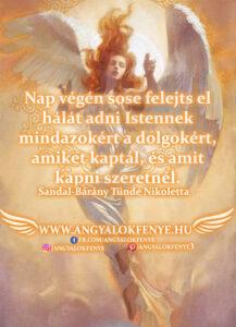 Angyali üzenet-Nap végén sose felejts el hálát adni Istennek