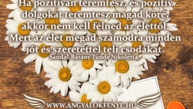 Photo of Angyali üzenet: Nem kell félned az élettől