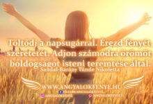 Photo of Angyali üzenet: Töltődj a napsugárral